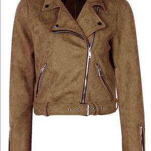 Boohoo Women's Suede Moro Jacket